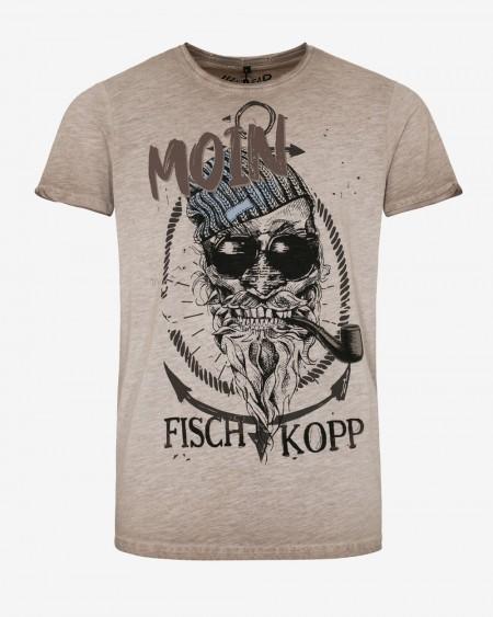 hangOwear Herren T-Shirt - Fischkopp beige
