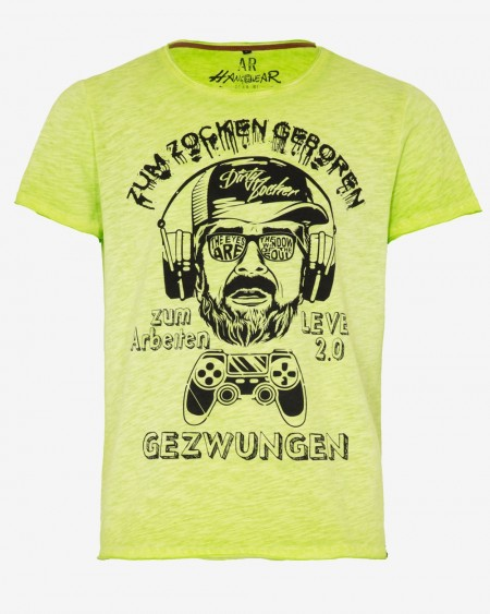 hangOwear Herren T-Shirt - AR Gamer neon green