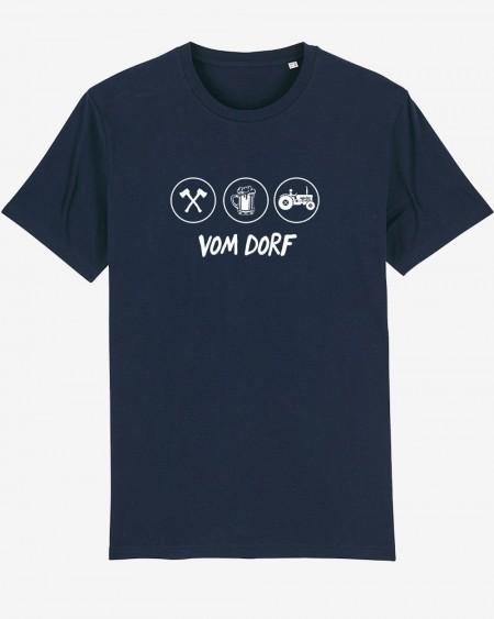 """Datschi Trachten - T-Shirt """"Vom Dorf"""" navy"""