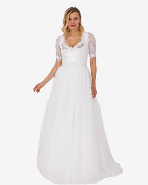Hochzeitsdirndl - Asena ecru 110cm