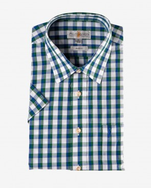 Almsach - Herren Hemd kurzarm navy-tanne