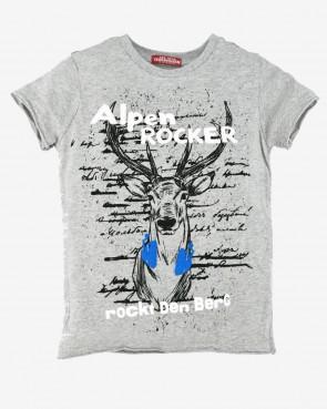"""Kinder T-Shirt - """"rockt den Berg"""" grey-melange"""