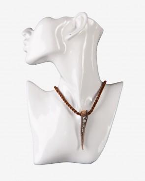 BK Crystals Collier - Krickerl Swarovski braun