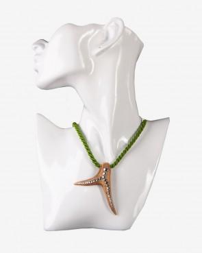 BK Crystals Collier - Krickerl Swarovski hellgrün