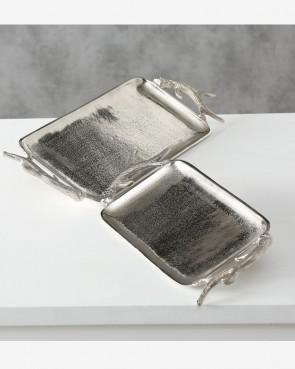 Tablet Geweih silber Set 2-tlg.