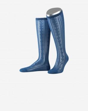 Damenkniestrumpf - blau