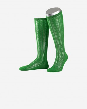 Damenkniestrumpf - smaragd