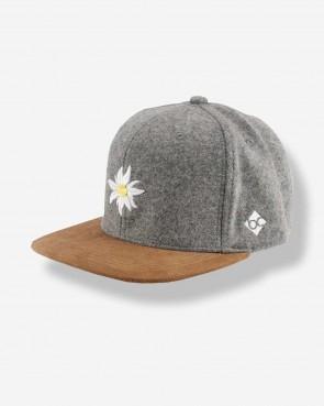 Bavarian Caps - Snapback Edelweiß Wildleder