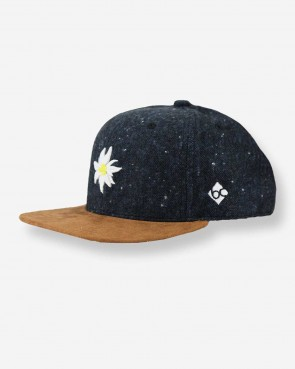 Bavarian Caps - Snapback Edelweiß Flanell blau