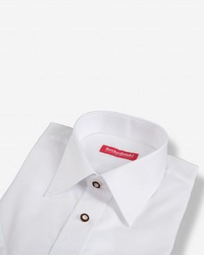 Trachtenhemd - kurzarm weiß basic