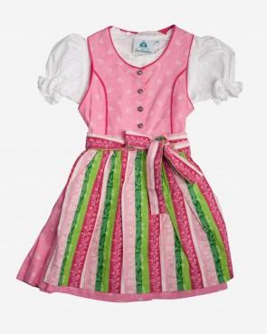 Kinderdirndl Set - Biene rosa