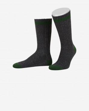 Lusana Socken - anthrazit/tanne