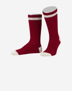 Lusana Socken - bordeaux/sand