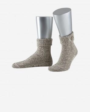 Lusana Socken - Edelweiss groß beige