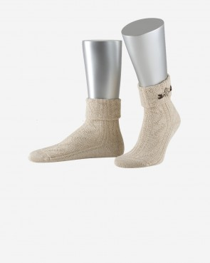 Lusana Socken - Edelweiß groß natur