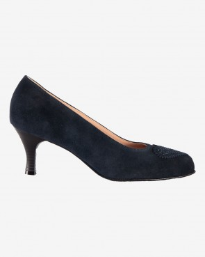 Pumps - Velour Blue Denim