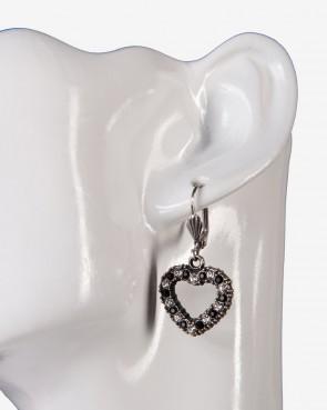 Ohrringe - Herz schwarz/weiß