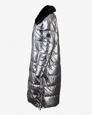 Rino Pelle Damen Mantel - Laluna aluminium