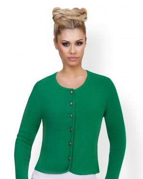 Damen Trachten - Strickjacke grün