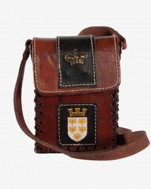 Tasche Niederösterreich braun mit Wappen und Krone