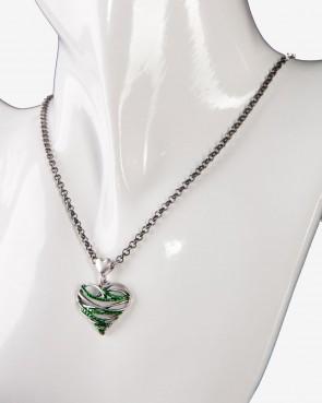 Collier - Herz grün