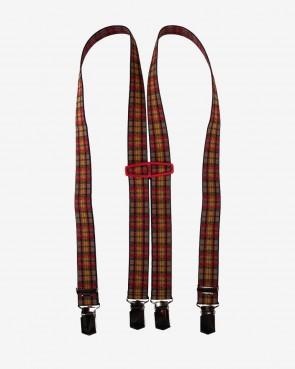 Kinder Hosenträger - Karo rot 80cm (3-7 Jahre)