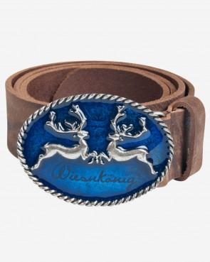 Wiesnkönig Gürtel - Hirsch blue